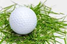 Free White Golf Ball On Fresh Grass Stock Image - 26142851
