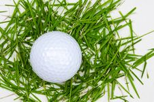 Free White Golf Ball Top View On Grass Stock Photos - 26142863