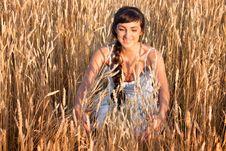 Free Woman In White Dress In Field Stock Photo - 26143680