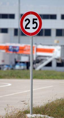 Free Traffic Speed Sing Stock Photos - 26144833