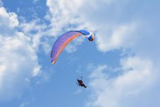 Free Glider In The Sky With Clouds Royalty Free Stock Photo - 26146955