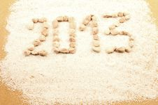 Free New Year Written With Pebbles Royalty Free Stock Photography - 26147287
