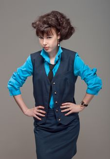 Free Beatiful Girl In Suit Royalty Free Stock Image - 26147636