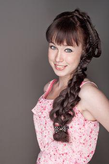 Free Portrait Of Beautiful Girl Royalty Free Stock Photos - 26147738