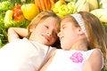 Free Children Enjoy In The Garden Stock Image - 26153831