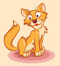 Free Ginger Cat On The Carpet Royalty Free Stock Photos - 26158658