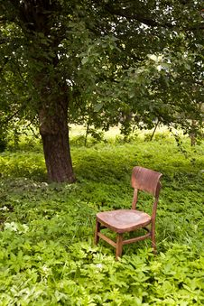 Free Wooden Chair Royalty Free Stock Photography - 26150137
