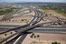 Freeway Interchange Stock Image
