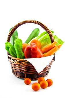 Free Bag With Vegetables Royalty Free Stock Images - 26153529