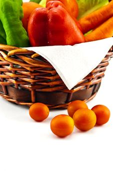 Free Bag With Vegetables Stock Photo - 26153550