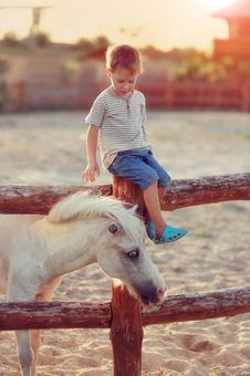 Free The Boy On The Ranch Stock Photo - 26154830