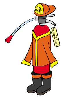 Fire Fighting Extinguisher Stock Images
