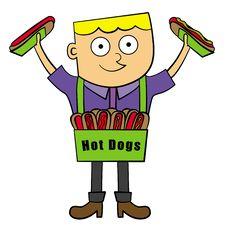 Hotdog Vendor Royalty Free Stock Photo