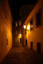 Free Night Alley Royalty Free Stock Photos - 26166348
