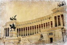 Roman Landmarks Series Royalty Free Stock Photography