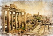 Free Ancient Roman Landmarks - Forums Stock Photo - 26160830