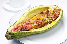 Free Stuffed Zucchini Royalty Free Stock Image - 26162096