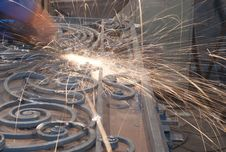 Free Worker Welding Metal. Production And Construction Stock Photography - 26163762