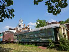 Abandoned Rail Car Royalty Free Stock Images