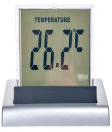 Digital Watch With The Thermometer Stock Photography