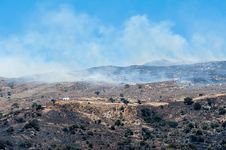 Bushfire On Crete Royalty Free Stock Images