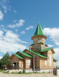 Free Wooden Orthodox Church Under Construction Royalty Free Stock Image - 26172106