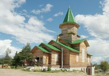 Free Wooden Ortodox Church Under Construction Stock Photography - 26172112