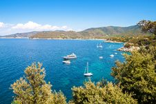 Beautiful Coastlines In Elba Island. Italy Stock Photography