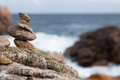 Free Stone Pile At The Rocky Coast Royalty Free Stock Image - 26183406