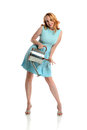 Free Pin Up Girl Holding A Watering Can Stock Image - 26184801