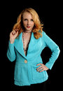 Free Young Woman Wearing A Turquoise Jacket Stock Photo - 26185050