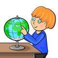 Free Boy With Globe Royalty Free Stock Image - 26189956