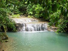 Free Erawan Waterfall Royalty Free Stock Photos - 26180748