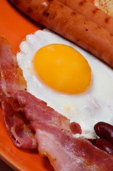 English Breakfast Close Up Royalty Free Stock Photos