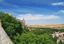 Free Segovia Alcazar Castle And Country. Castile, Spain Stock Photos - 26182623