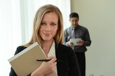 Free Young Businesswoman At The Office Stock Image - 26184841