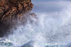 Free Sea Surf At The Rocky Coast Of Brittany Stock Photo - 26186930