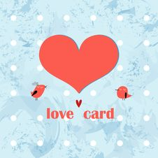 Free Greeting Card With A Heart Royalty Free Stock Photos - 26187348