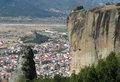 Free Panoramic View From The Meteora Rocks In Greece Royalty Free Stock Image - 26195886