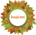Free Frame From Autumnal Leaves. Stock Photo - 26198680