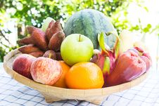 Free Basket Of Mix Fruits Stock Images - 26190574