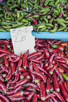 Fresh Hot Peppers &x28;1 Of 2&x29; Royalty Free Stock Photography