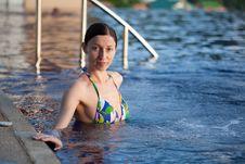 Free Woman In The Pool Stock Photo - 26192510