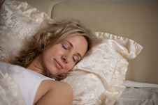 Free Sleeping On The Bed Girl Stock Photo - 26192540