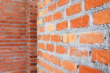 Free Clay Brick Wall Stock Photo - 26195840