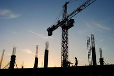 Free Construction Crane Stock Images - 26195954