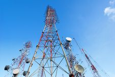 Free Telecommunication Tower Stock Photography - 26196292