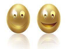 Free Happy Golden Eggs Royalty Free Stock Photos - 26196408