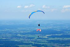Free 2 Hang-glider In The Alps Sky Stock Image - 2620201