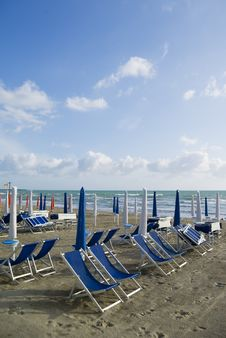 Free Sandy Beach, Tuscany Stock Photography - 2621662